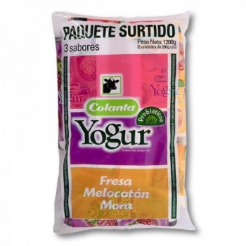 Yogur Colanta Surtido x 6...