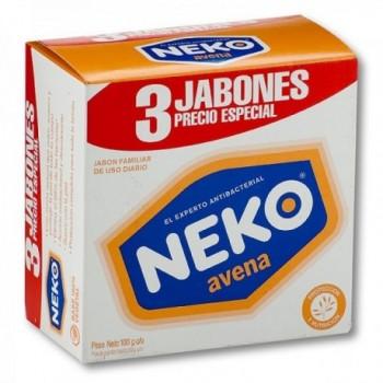Jabon Neko Avena 3x100g c/u.