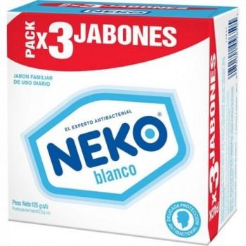 Jabon Neko Blanco 3x125g c/u.