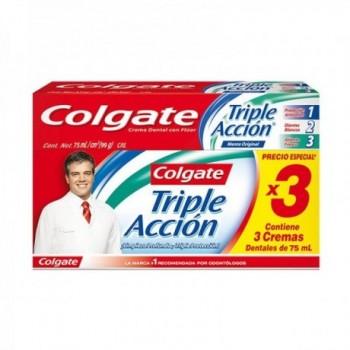 Colgate Triple accion * 3 U...
