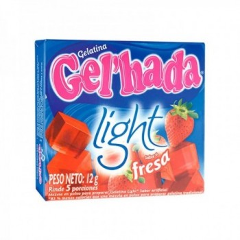 Gelatina Light Fresa Gel...