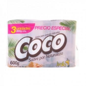 Jabon Coco Jirafa x 3uds