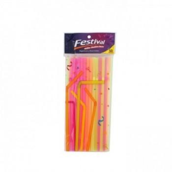 Pitillos Flexibles Neon...